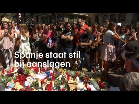 'Wij zijn niet bang': Spanje staat stil bij aanslagen