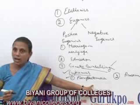 Eugenics and Genetic Counselling lectur, BSc Botany  by Dr. Anupama Goyal, Biyani group of colleges