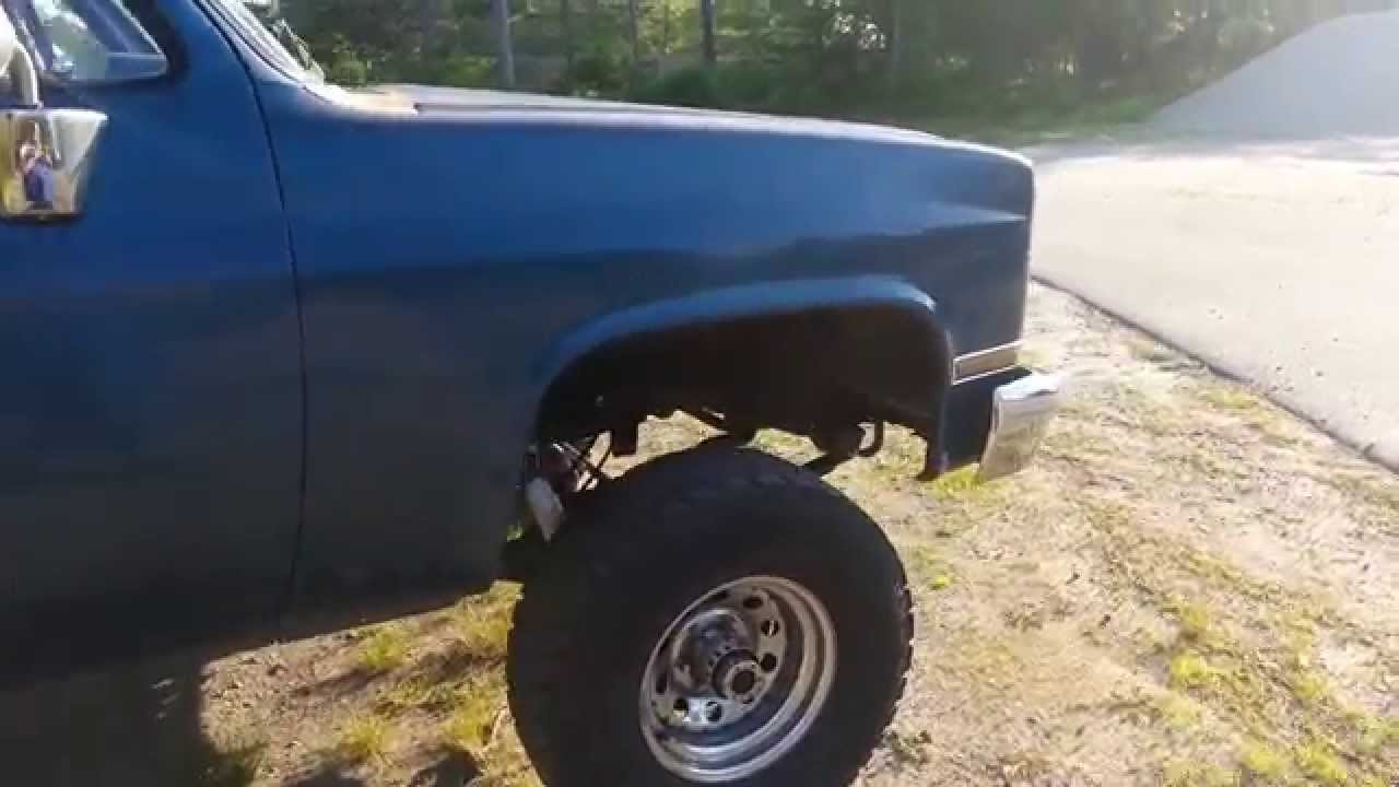medium resolution of 1985 chevy k10 after 4 inch lift