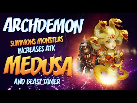 Castle Clash: Archdemon - Summons Monsters Increases ATK 1.23 Billion DMG Medusa And BT