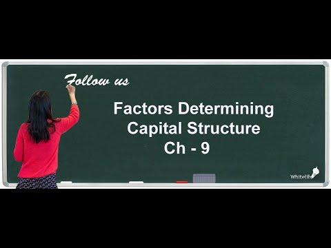 Factors Determining Capital Structure Chapter 9 Class 12