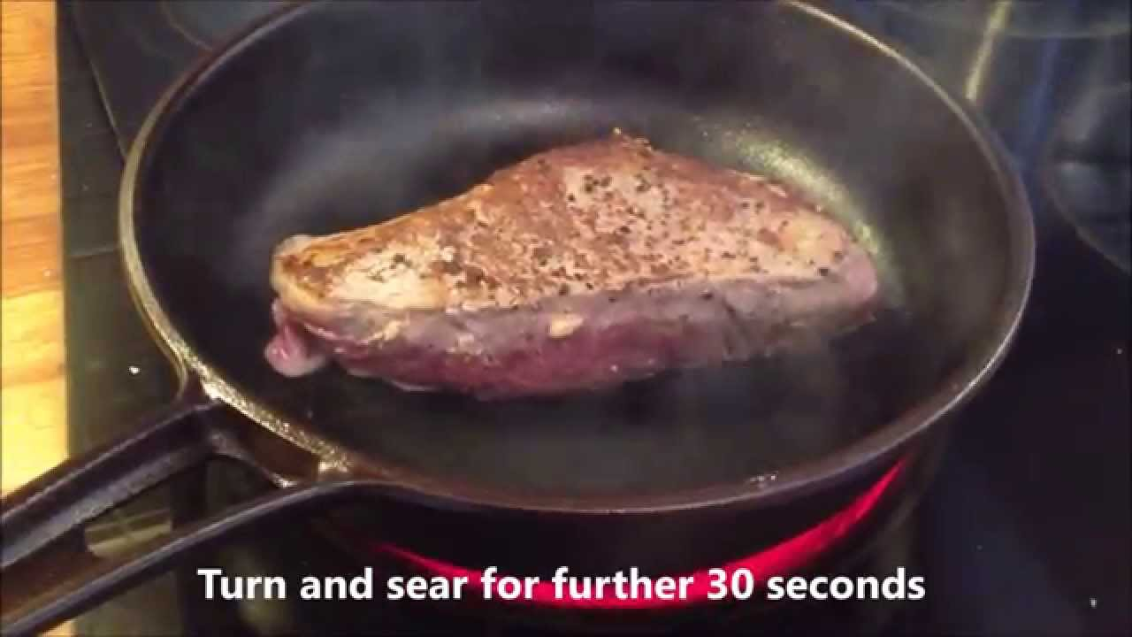 Perfect steak method: stove to oven chef method in #