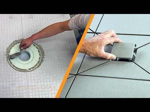 Betegelen Vloer Badkamer : Douche betegelen met centrale afvoer: deel 2 vloerinbouw youtube