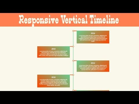 Complete Responsive Vertical Timeline Css Tutorial | Cool css effects 2019 thumbnail