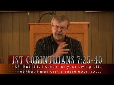 1 Corinthians 7:25-40 Message 34 by Dave Stewart