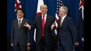 Trump meets Japan, Australia leaders over trade, N. Korea threat.