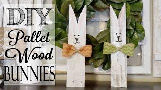 DIY Pallet Wood Bunnies