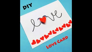 How to Make a Love Card For Loved Ones | Love Card Ideas | Greeting Cards Latest Design | #Shorts
