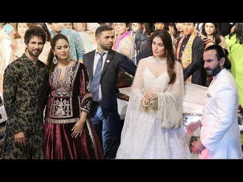 Shahid Kapoor & Mira Rajput IGNORE Kareena Kapoor & Saif Ali Khan At Isha Ambani WEDDING