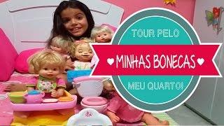Tour Pelo Meu Quarto - Minhas Bonecas