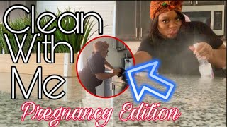 KITCHEN CLEAN WITH ME 9 MONTHS PREGNANT!| CLEANING MOTIVATION