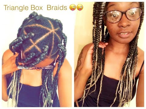 SIMPLE TRIANGLE BOX BRAIDS using Rubber Band method