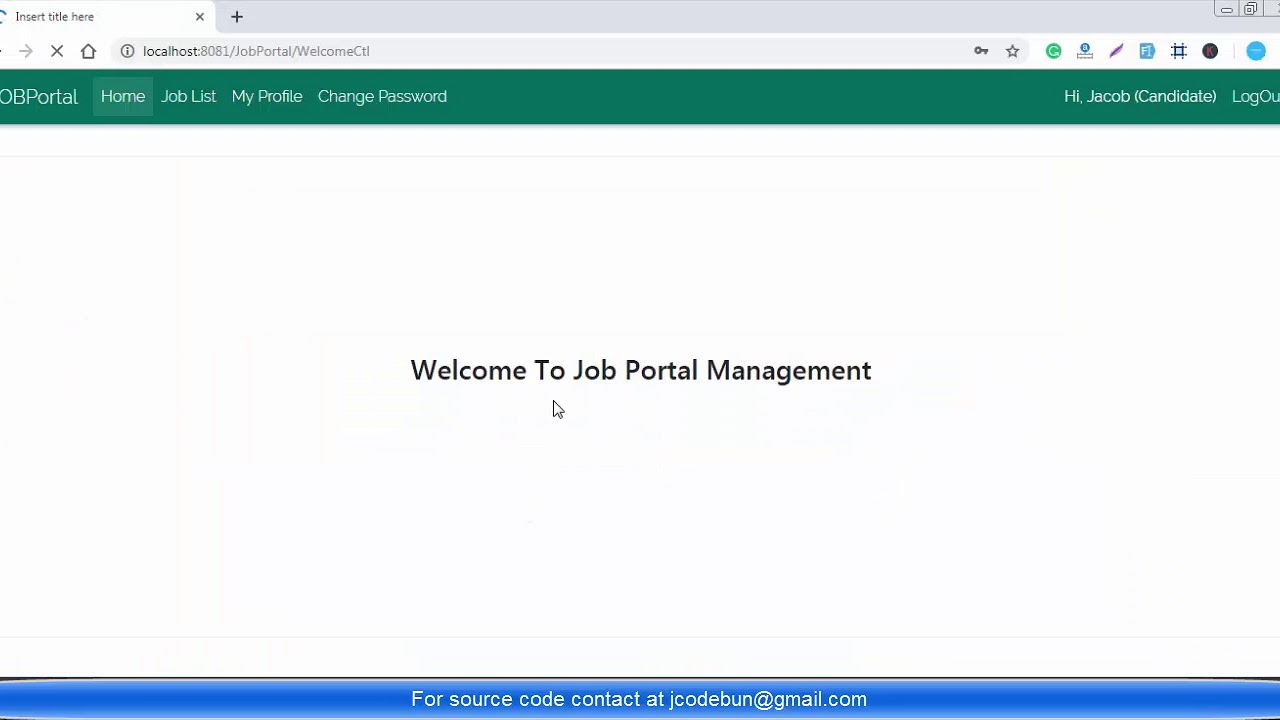 Online Job portal project in java with source code and