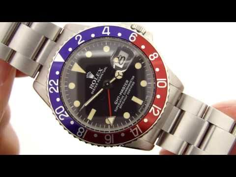 "Rolex 1675 ""Pepsi"" GMT-Master Vintage Watch HD Video Review"
