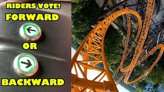 Roller Coaster where Riders VOTE Forward or Backward! Fury Multi-Angle POV Bobbejaanland