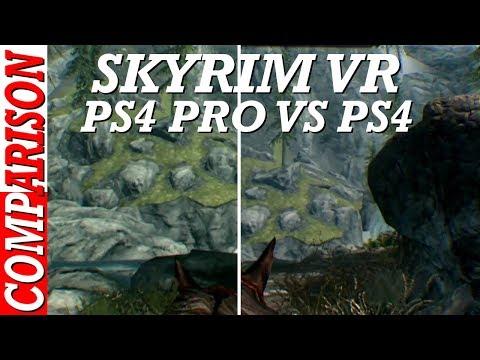 SKYRIM VR PS4 VS PS4 Pro Comparison