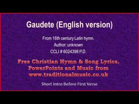 Gaudete(English version) - Christmas Carols Lyrics & Music