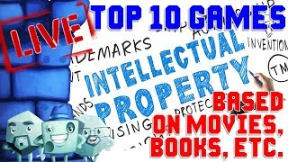Top 10 Games Based On Movies, Books, Etc.