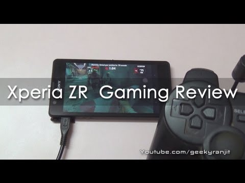 Sony Xperia ZR Gaming Review - Geekyranjit