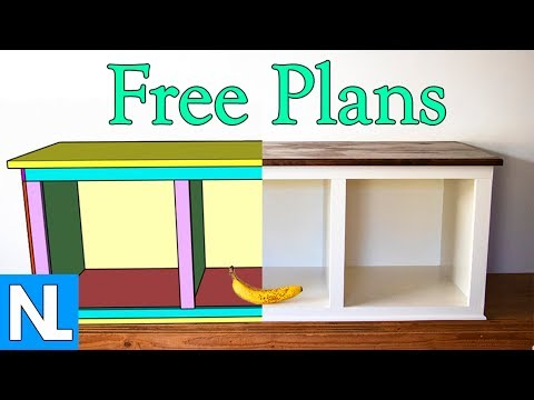 DIY Cubby Bench / home furniture project / free cubbie bench plans