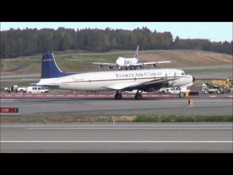 Planespotting  Anchorage September 9th 2016 with Dc-6 Everts AIr Cargo