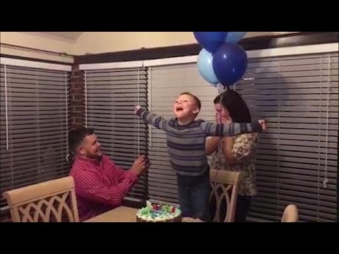 Boy's birthday wish for parents to marry finally comes true