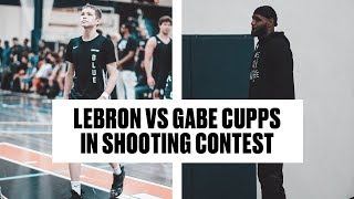Team Strive 4 Greatness DOMINATES, LeBron 3PT Shootout Against Gabe Cupps   Full Highlights