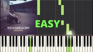 """Fingertips"" Tom Gregory Play Along Piano Tutorial Easy"