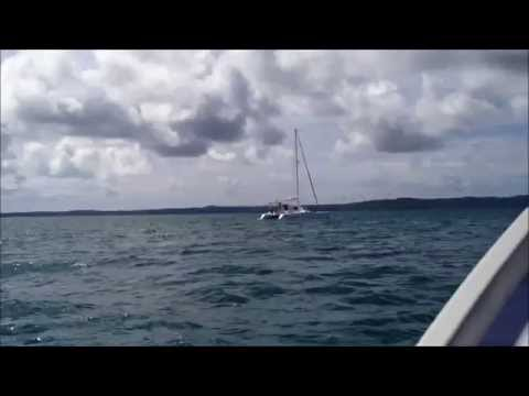 Boat cruising around Moreton Bay Queensland
