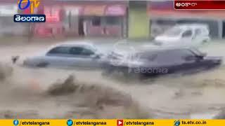 Shocking Video | Cars Swept Away, Four Injured | in Flash Floods | at Turkey