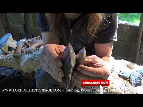 MAKING STONE AGE FLINT ADZE - Ancient Techniques