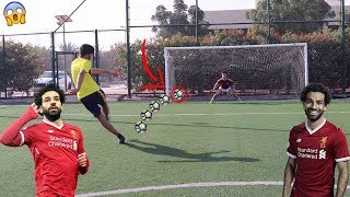 تحدي تقليد أهداف اللاعبين ( أجمل أهداف محمد صلاح !! )