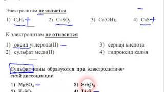 электролиты и ионные уравнения