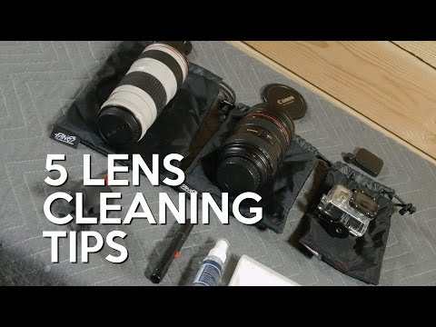 5 Tips for Cleaning Your Lenses! - Video Production Tips!