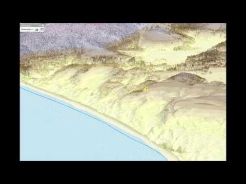 Visualizing LIDAR Data using ArcScence