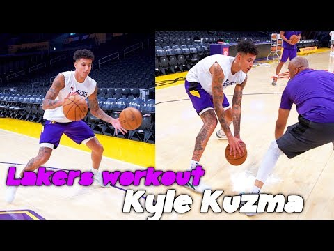 Lakers Kyle Kuzma Skill Workout With Lakers Coach Phil Handy