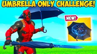 *INSANE* UMBRELLA ONLY CHALLENGE!! - Fortnite Funny Fails and WTF Moments! #877