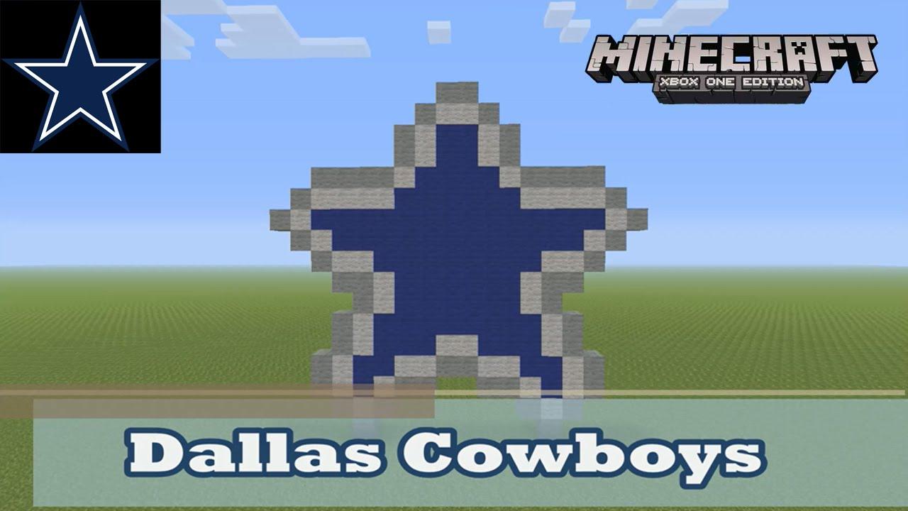 Minecraft Pixel Art Tutorial And Showcase Dallas Cowboys Logo Nfl