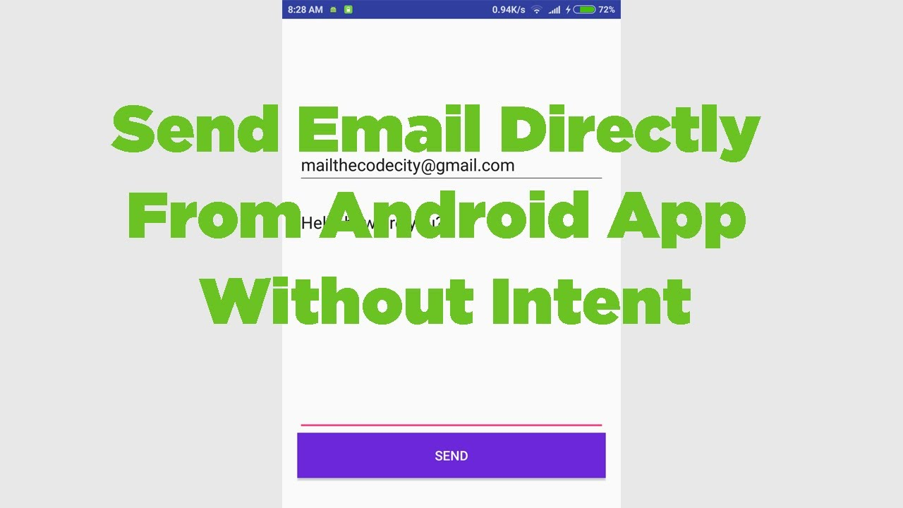 Sending Email From Android App without Intent | Example & Source Code