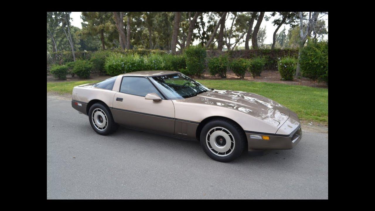 sold 1984 chevrolet corvette coupe lt bronze dk bronze. Black Bedroom Furniture Sets. Home Design Ideas