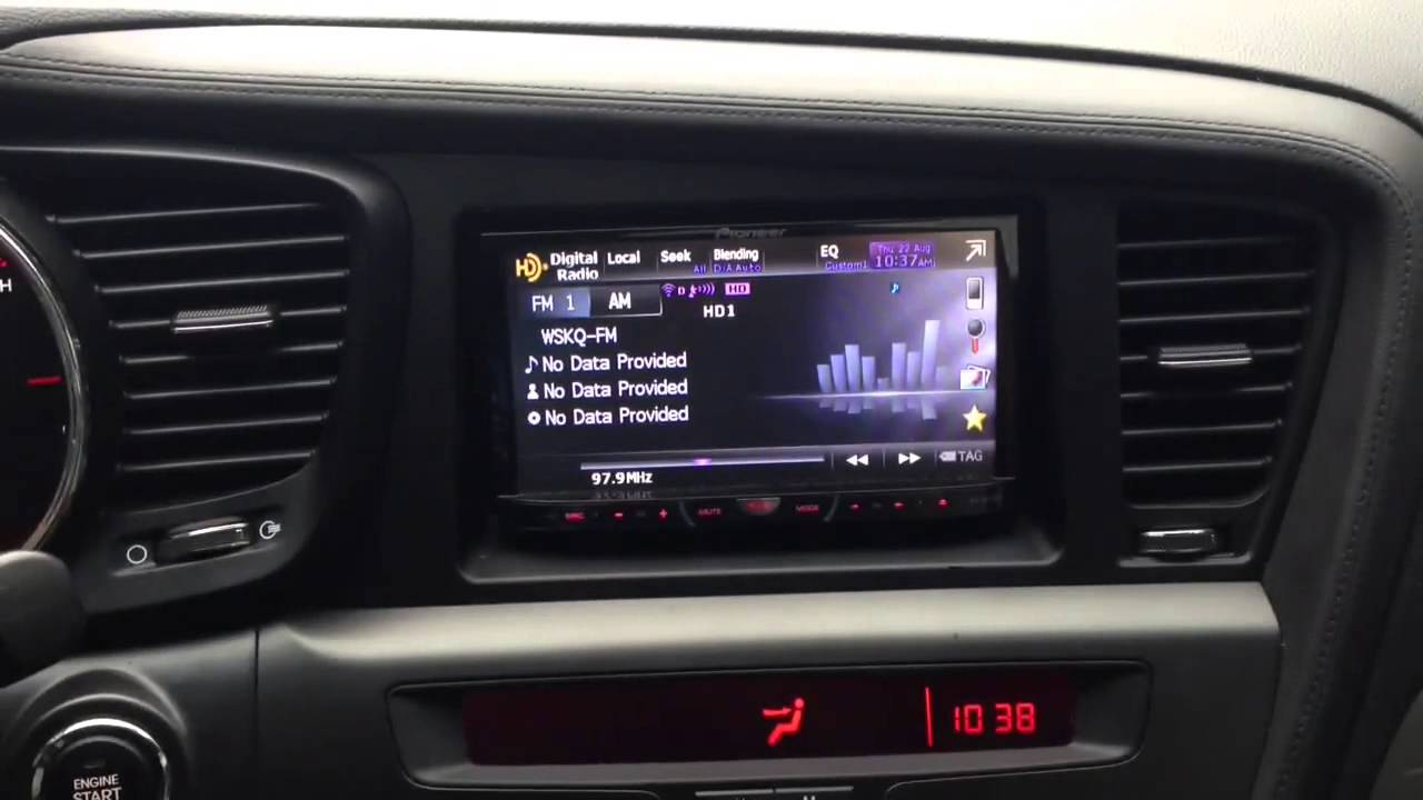 Kia Optima With Aftermarket Radio Youtube