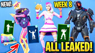 *NEW* ALL Fortnite LEAKED SKINS & EMOTES.! *VISITOR V2* (Slumber, Pizza Party)
