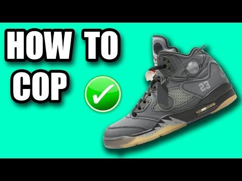 How To Get The Off White Jordan 5   Off White Jordan 5 Release Info