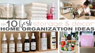 Home Organization Tips And Hacks - Clever Small Space Storage Solutions || The Sunday Stylist