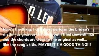 Maybe It's a Good Thing - KT Tunstall Acoustic Guitar Cover