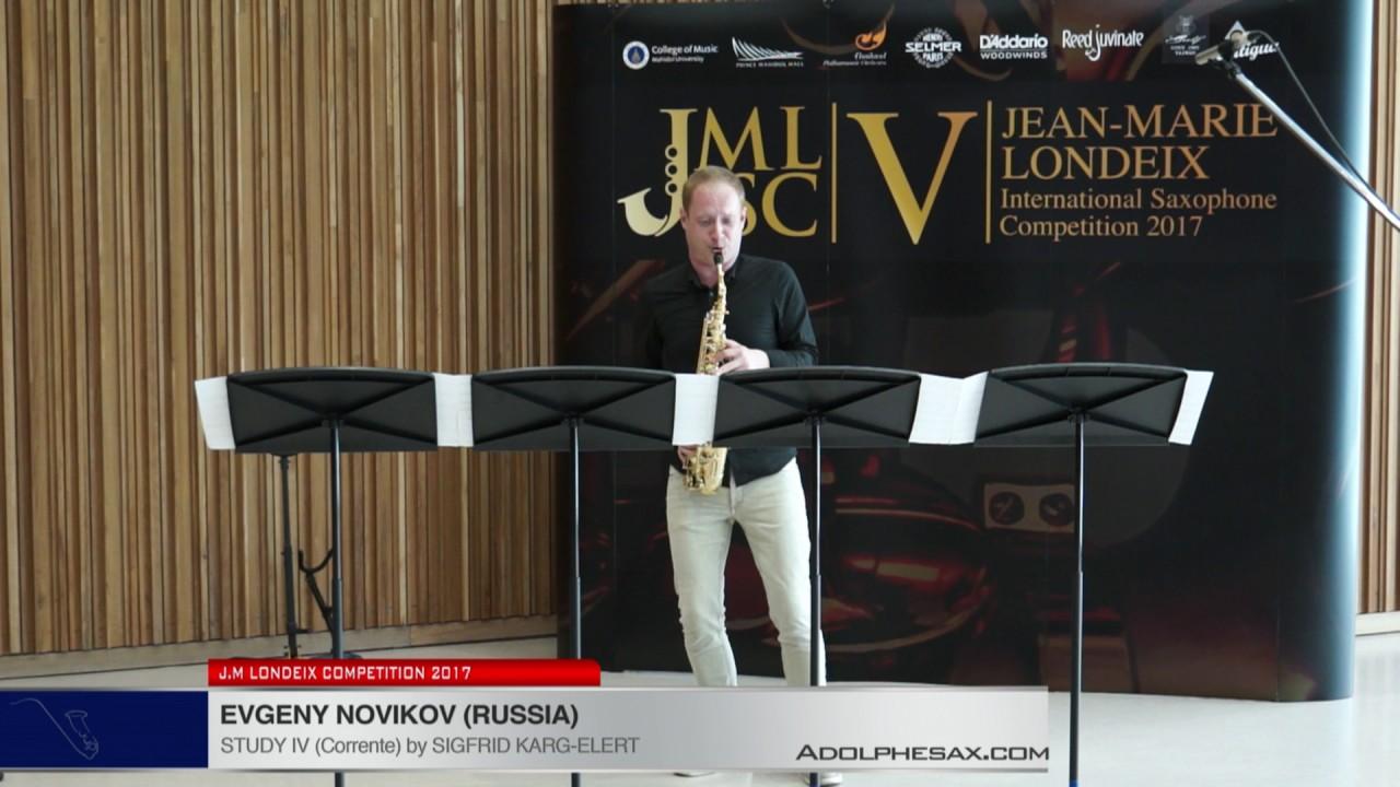 Londeix 2017 - Evgeny Novikov (Russia) - IV Corrente by Sigfrid Karg Elert