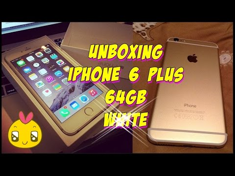 unboxing iphone 6 plus 64 gb white youtube. Black Bedroom Furniture Sets. Home Design Ideas