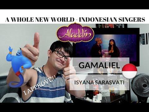 [REAKSI] MENYETUJUI! Indonesia's Gamaliél, Isyana Sarasvati - A Whole New World | Disney Aladdin
