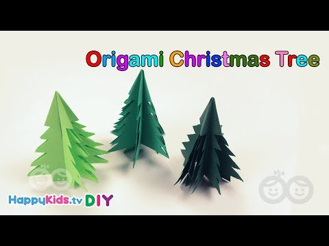 Origami Christmas Tree | Kid's Crafts and Activities | Happykids DIY