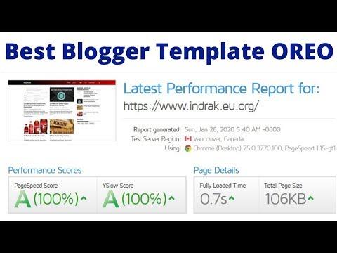 Best Blogger Template OREO